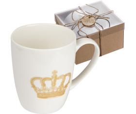 Tasse mit Kronen Aufdruck